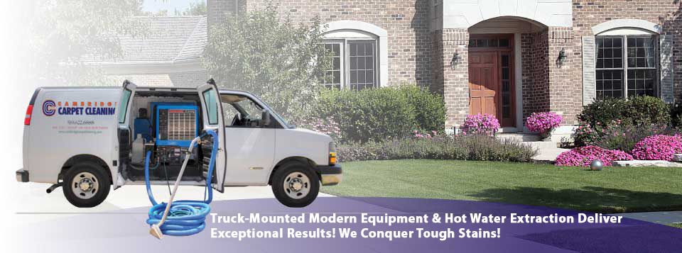 Truck-Mounted Modern Equipment & Hot Water Extraction Deliver Exceptional Results! We Conquer Tough Stains!